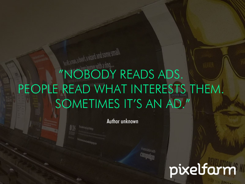 quote over ads