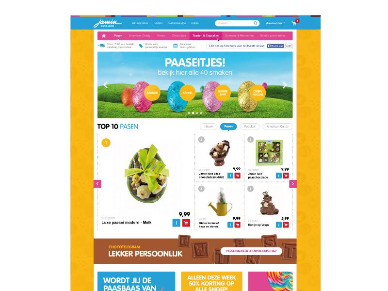 Voorbeeld visueel ontwerp website