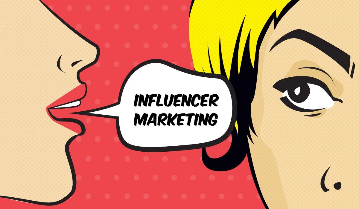influencer marketing pop stijl illustratie