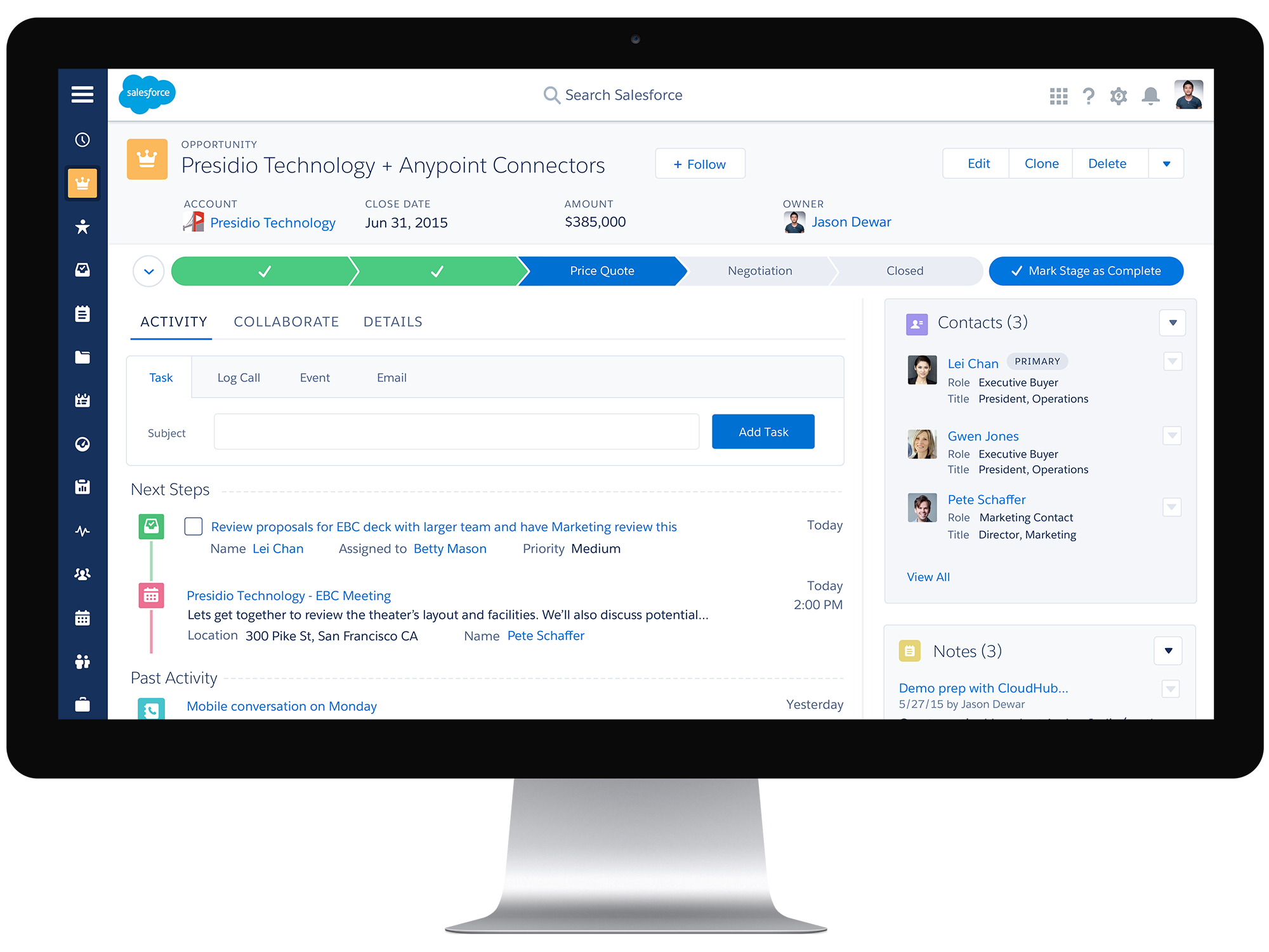 salesforce crm nieuwe interface