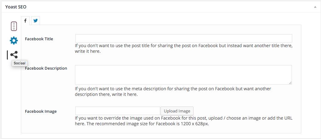 voorbeeld social plugin voor seo bij wordpress van Yoast SEO
