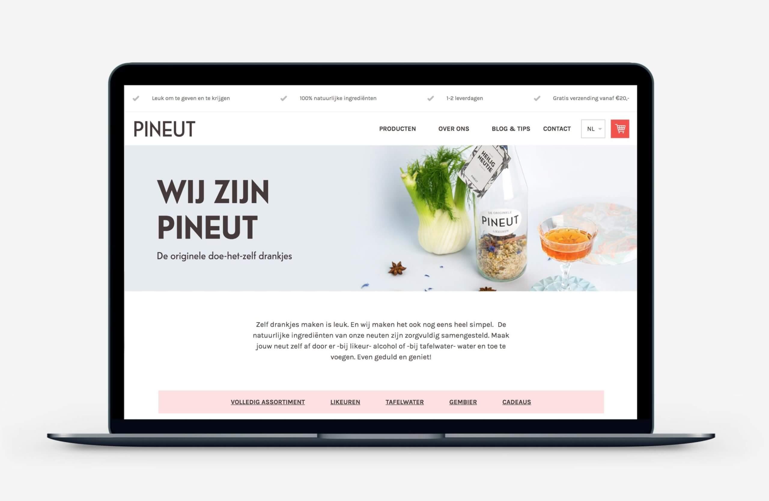 Pineut nieuwe website