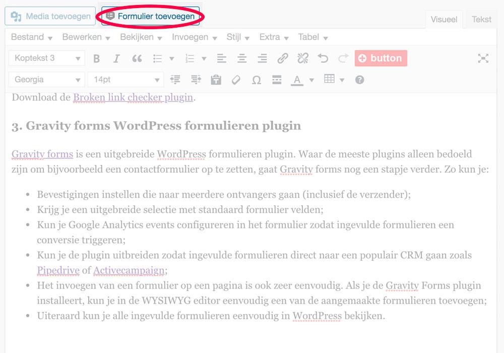 Eenvoudig formulier toevoegen aan je WordPress website