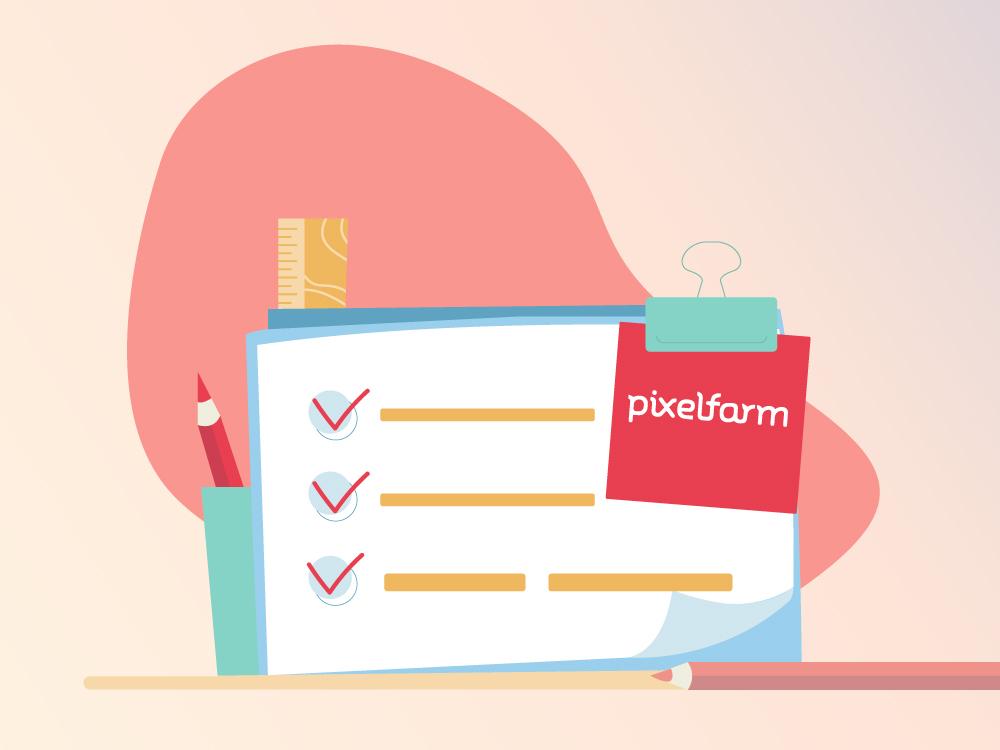 Content briefing checklist Pixelfarm